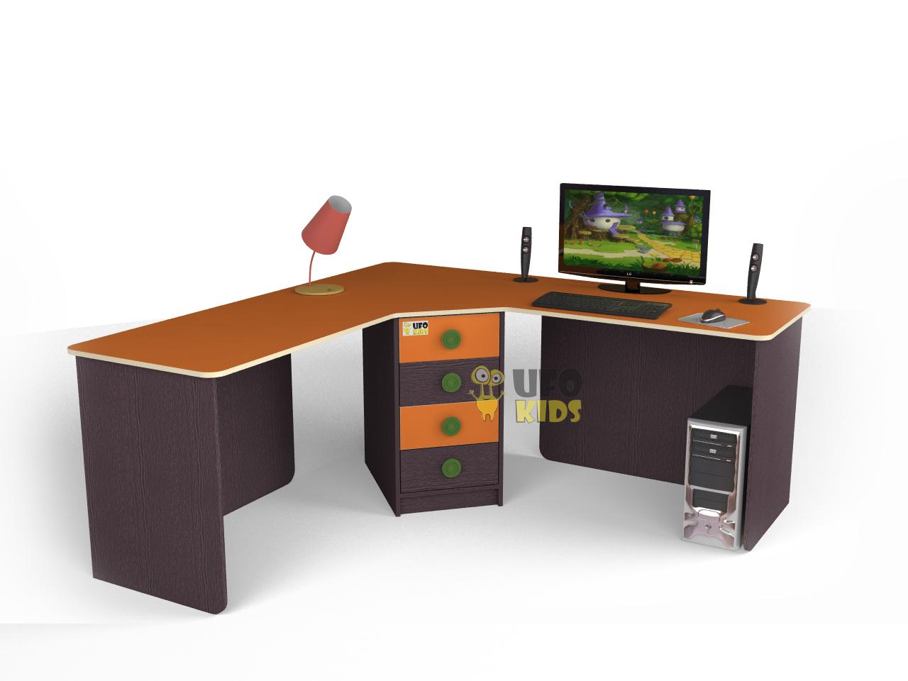 купить стол угловой для двоих детей оранси C005 недорогие детские